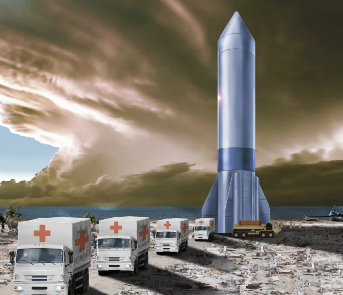 美国空军和太空军计划用火箭来运输物资